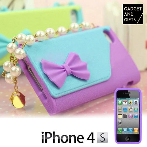 Pearl clutch Case For iPhone 4/4S