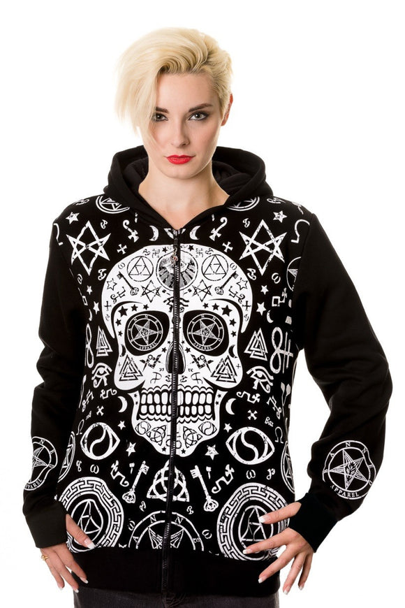 Banned Apparel - Pentagram Skull Hoodie - Egg n Chips London