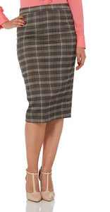 Voodoo Vixen - Pia Plaid Pencil Skirt - Egg n Chips London