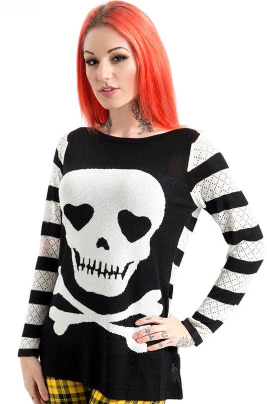 Jawbreaker Clothing - Steam Punk Knitted Poison Sweatshirt - Egg n Chips London