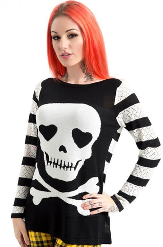 Jawbreaker Clothing - Steam Punk Knitted Poison Sweatshirt