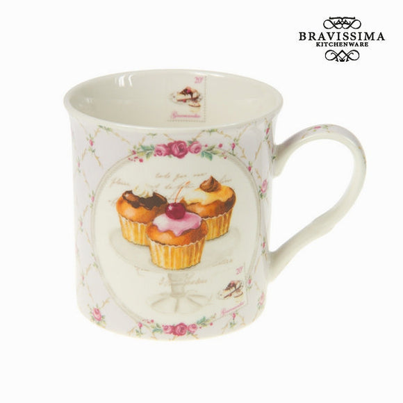 Bravissima Kitchen - Cup Cake Coffee Mug - Egg n Chips London