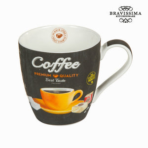 Bravissima Kitchen - Premium Coffee Cup Black Coffee Mug - Egg n Chips London