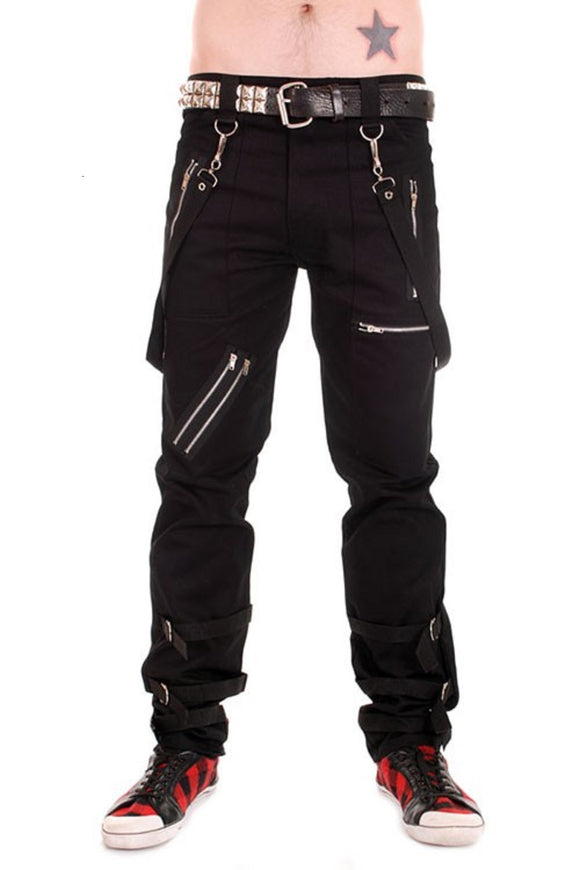 Tiger of London - Punk Black Bondage Trousers with Straps
