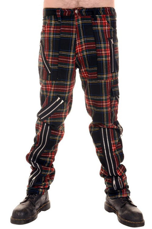 Tiger of London - Punk Multi Tartan Zip Bondage Pants