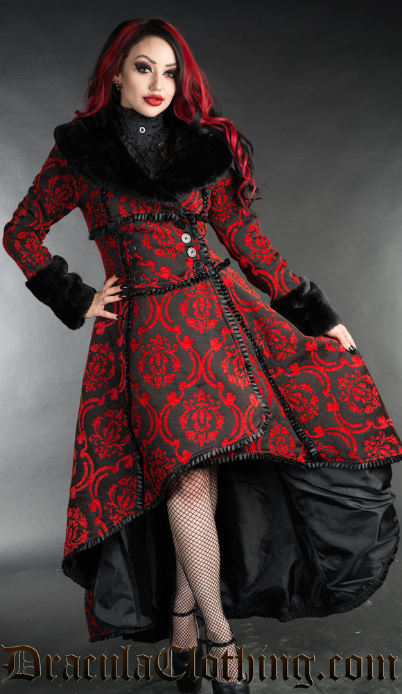 Dracula Clothing - Red Evil Queen Steampunk Coat