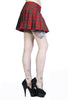 Banned Apparel - Red Tartan Mini Skirt - Egg n Chips London