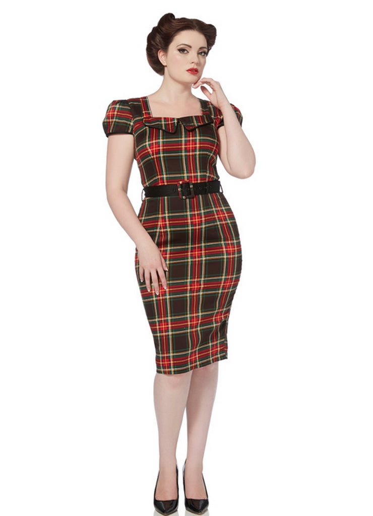 Voodoo Vixen - Scots Lady Tartan Pencil Dress