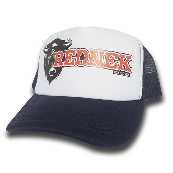 Toxico Clothing - Rednek Bison Trucker Hat (Navy/White) - Egg n Chips London