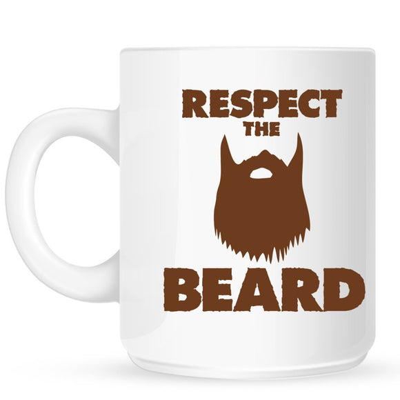 Respect The Beard Coffee Mug - Egg n Chips London