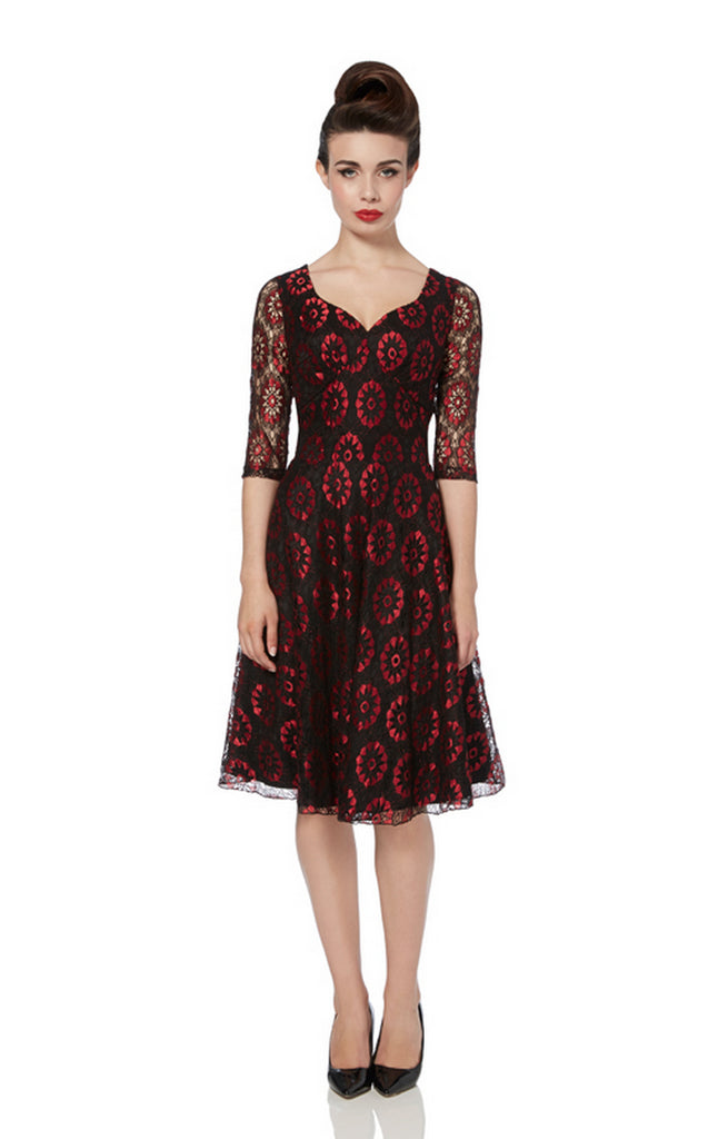 Voodoo Vixen - In The Club Lace Flare Dress