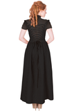 Banned Apparel - Rise Of Dawn Maxi Black Dress - Egg n Chips London