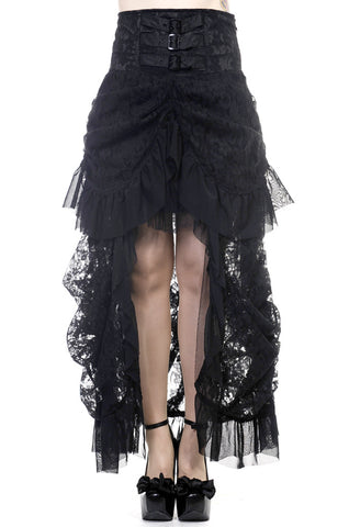 Banned Clothing - Black Lace Victorian Skirt