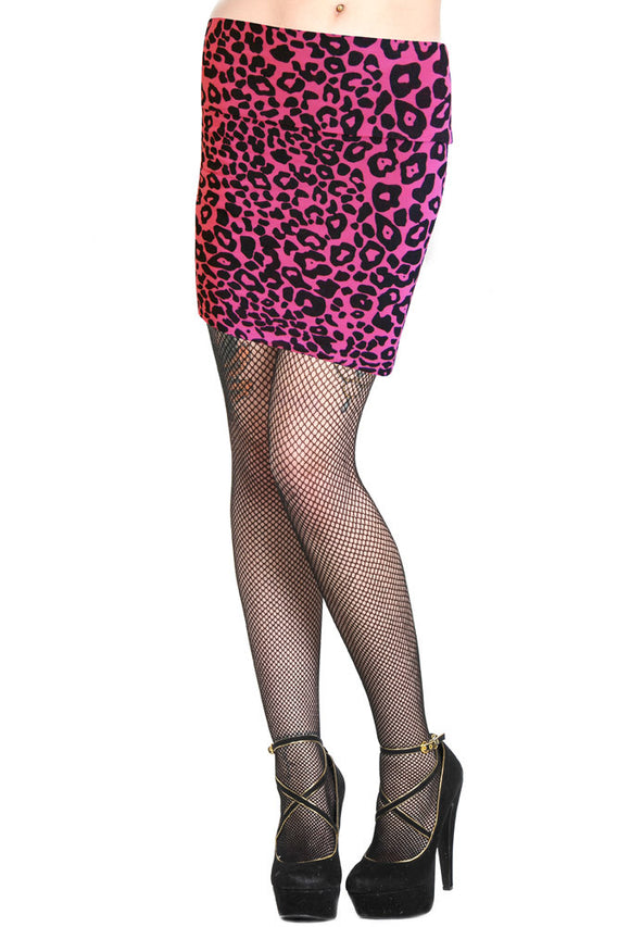 Banned Clothing - Pink Leopard Mini Skirt - Egg n Chips London