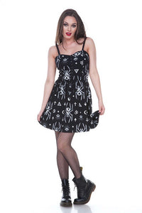 Jawbreaker Clothing - Skeleton Spider Skater Dress - Egg n Chips London