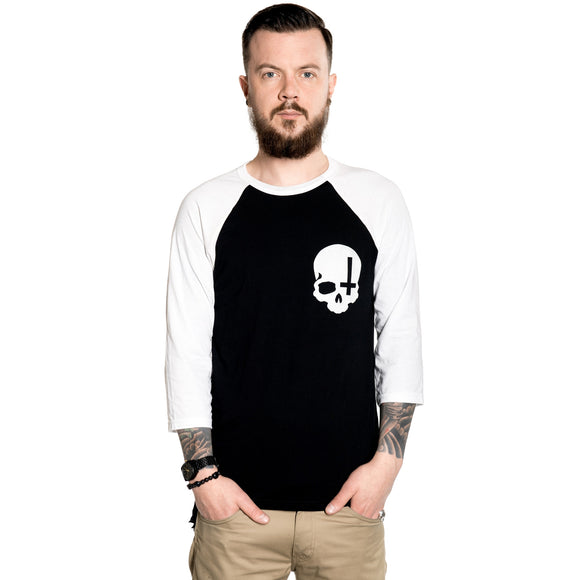 Toxico Clothing - Skull Cross Raglan - Egg n Chips London