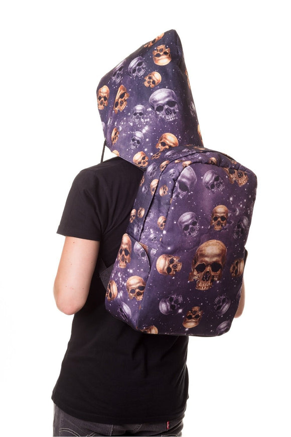 Banned Apparel - Skulls Backpack with Hood - Egg n Chips London