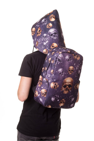 Banned Apparel - Skulls Backpack with Hood