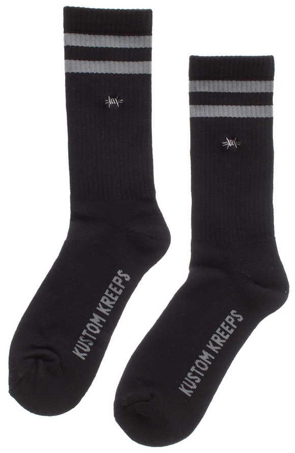 Kustom Kreeps -  Barbed Wire Embroidered Guys Socks