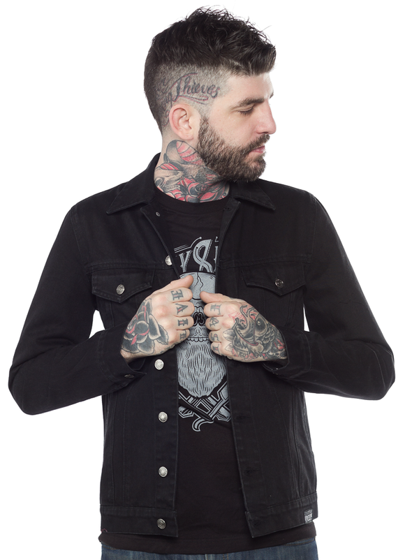 Kustom Kreeps - Rockabilly Black Denim Jacket
