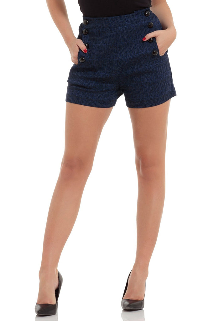 Voodoo Vixen - Jaquie Buttoned Shorts - Egg n Chips London