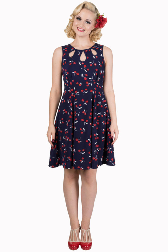 Banned Apparel - Summer Romance Navy Dress - Egg n Chips London