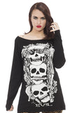 Jawbreaker Clothing - Super Goth No Evil Sweater - Egg n Chips London