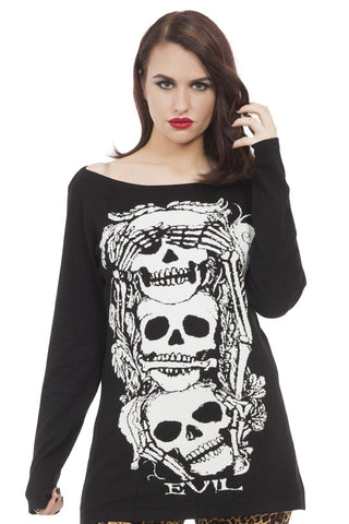 Jawbreaker Clothing - Super Goth No Evil Sweater