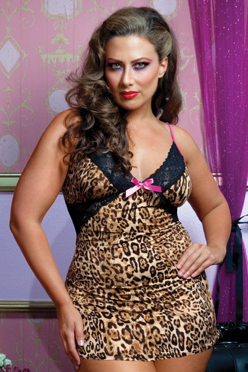 Seven 'til Midnight - Tame My Heart Plus Size Chemise - Egg n Chips London