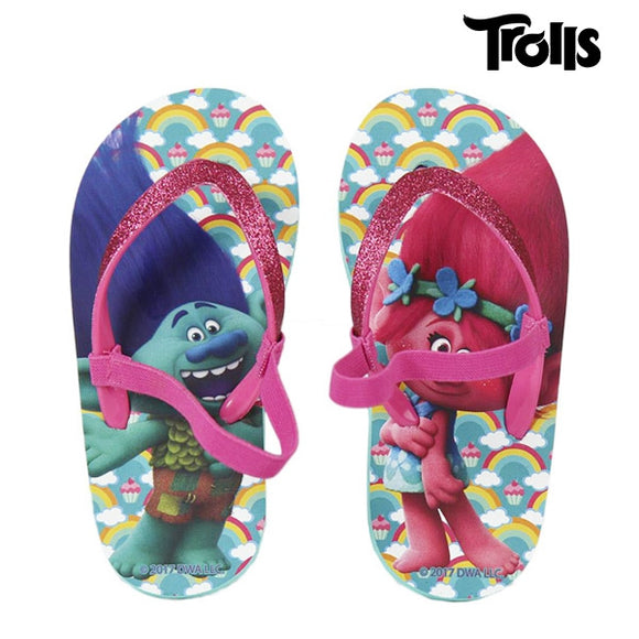 Dreamworks Trolls Flip Flops For Kids - Egg n Chips London