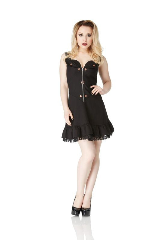 Jawbreaker - Ultimate Steampunk Mini Ruffle Party Dress - Egg n Chips London