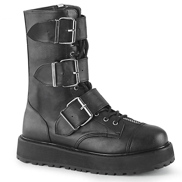 Demonia - Men's Gothic Lace-Up Front Mid-Calf Valor Boot