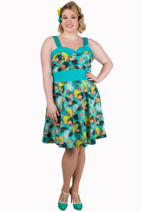 Banned Apparel - Wanderlust Short Halter Neck Plus Size Dress - Egg n Chips London