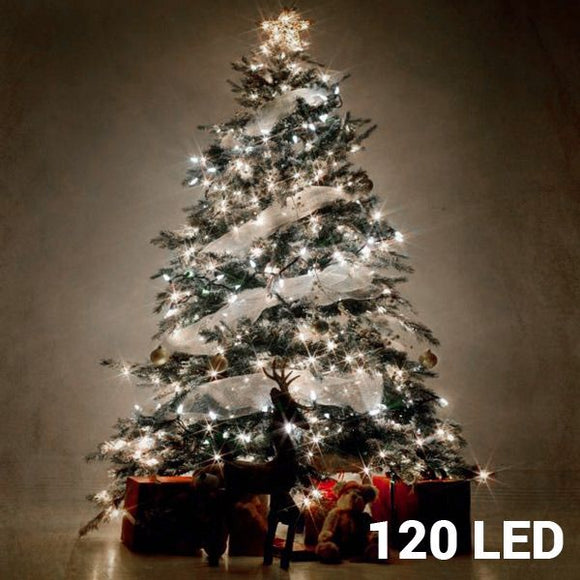 White Christmas Lights (120 LED) - Egg n Chips London