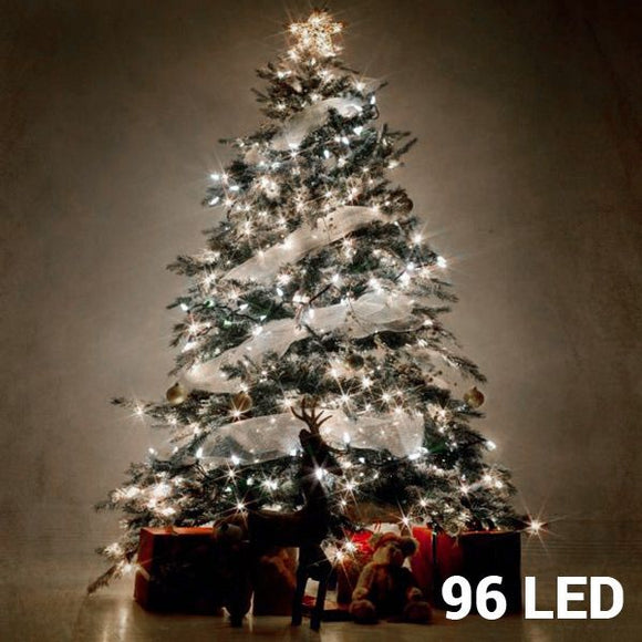 White Christmas Lights (96 LED) - Egg n Chips London
