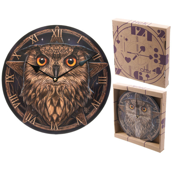 Egg n Chips London - Wise Owl Decorative Wall Clock - Egg n Chips London
