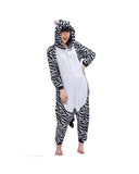 Mengshufen - Zebra Animal Style Flannel Jumpsuit Pyjamas - Egg n Chips London