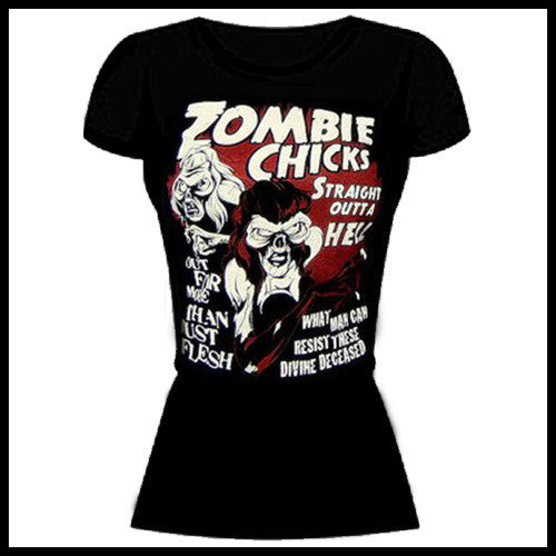 Zombie You Monsters - Zombie Chicks T-Shirt - Egg n Chips London