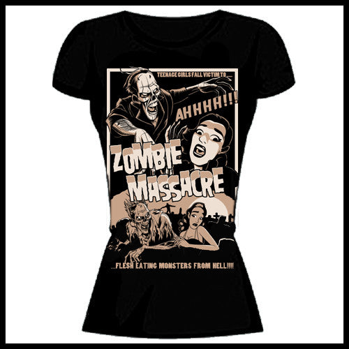Zombie You Monsters - Zombie Massacre T-Shirt - Egg n Chips London