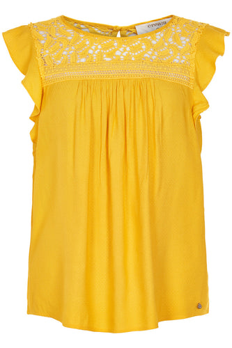 Charlize Blouse - Sunny Yellow / 34 - TOPPAR 34, 36, 38, 40,
