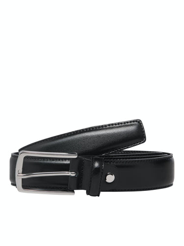 Christopher Belt - Black / 80 - SKÄRP ACCESSOARER, BRUN,