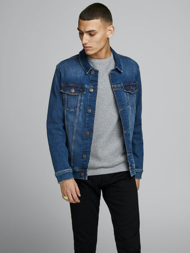 Alvin Jeans Jacket - Blue Denim / S - JACKOR BLÅ, DENIM,