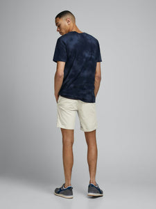 Linen Chino Shorts - SHORTS BEIGE, HERR, JACK & JONES, L,