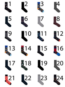 Christmas Sock Calendar - Black / One Size - STRUMPOR