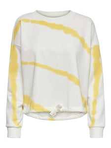 Janka Life O-Neck - Cloud Dancer/Yellow / XS - TOPPAR DAM,