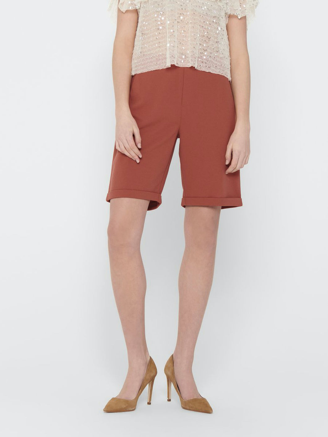 Catia Shorts - Etruscan Red / XS - SHORTS DAM, GRÖN,