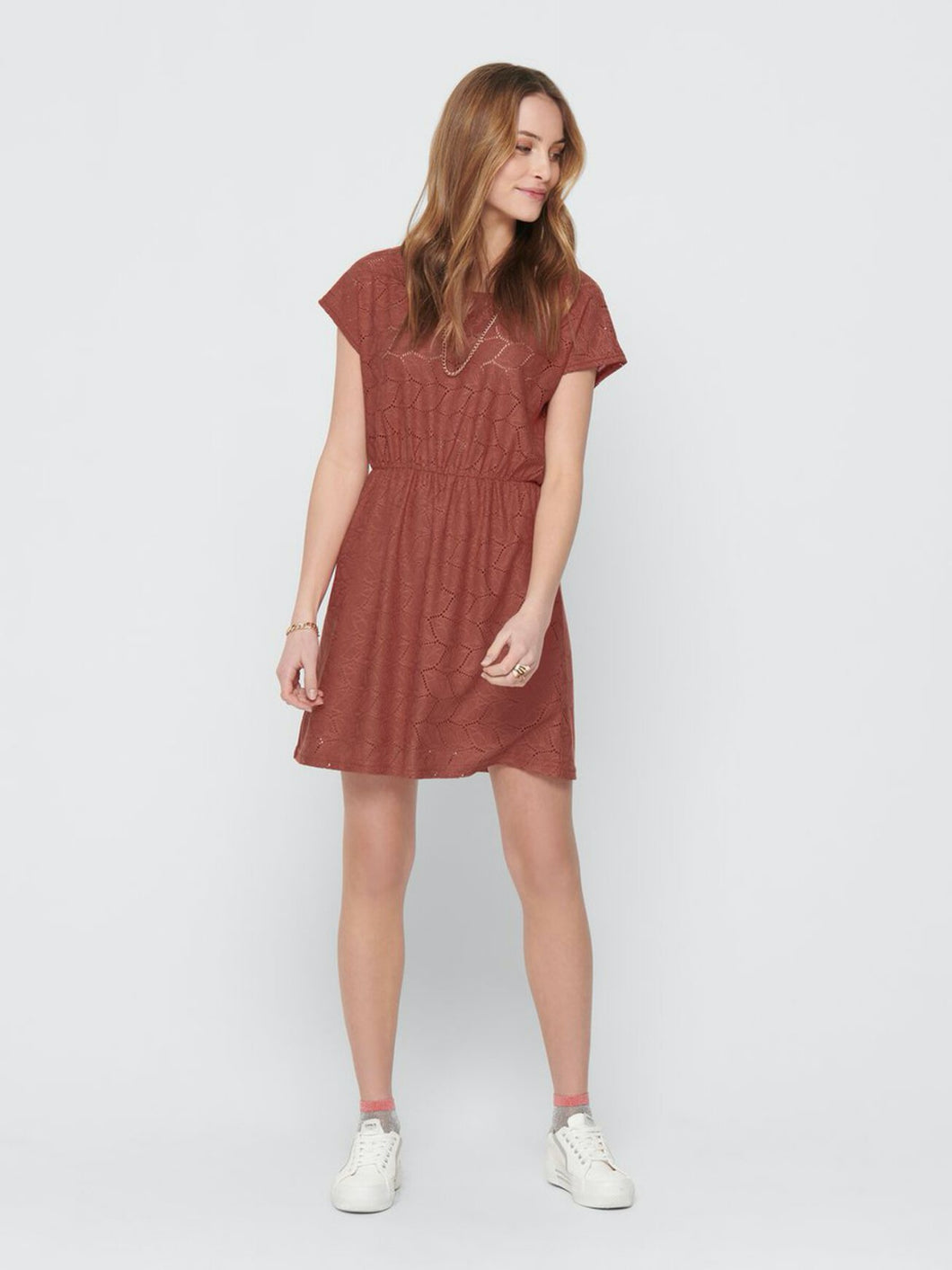 Tag Treats Dress - Etruscan Red / XS - KLÄNNINGAR DAM, GRÖN,