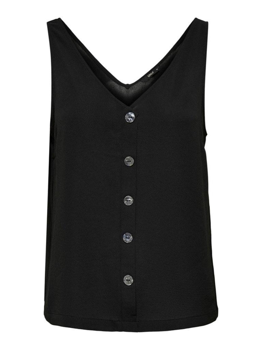 Nova Lux Button Top - Black / 34 - TOPPAR 34, 36, 38, 40, 42