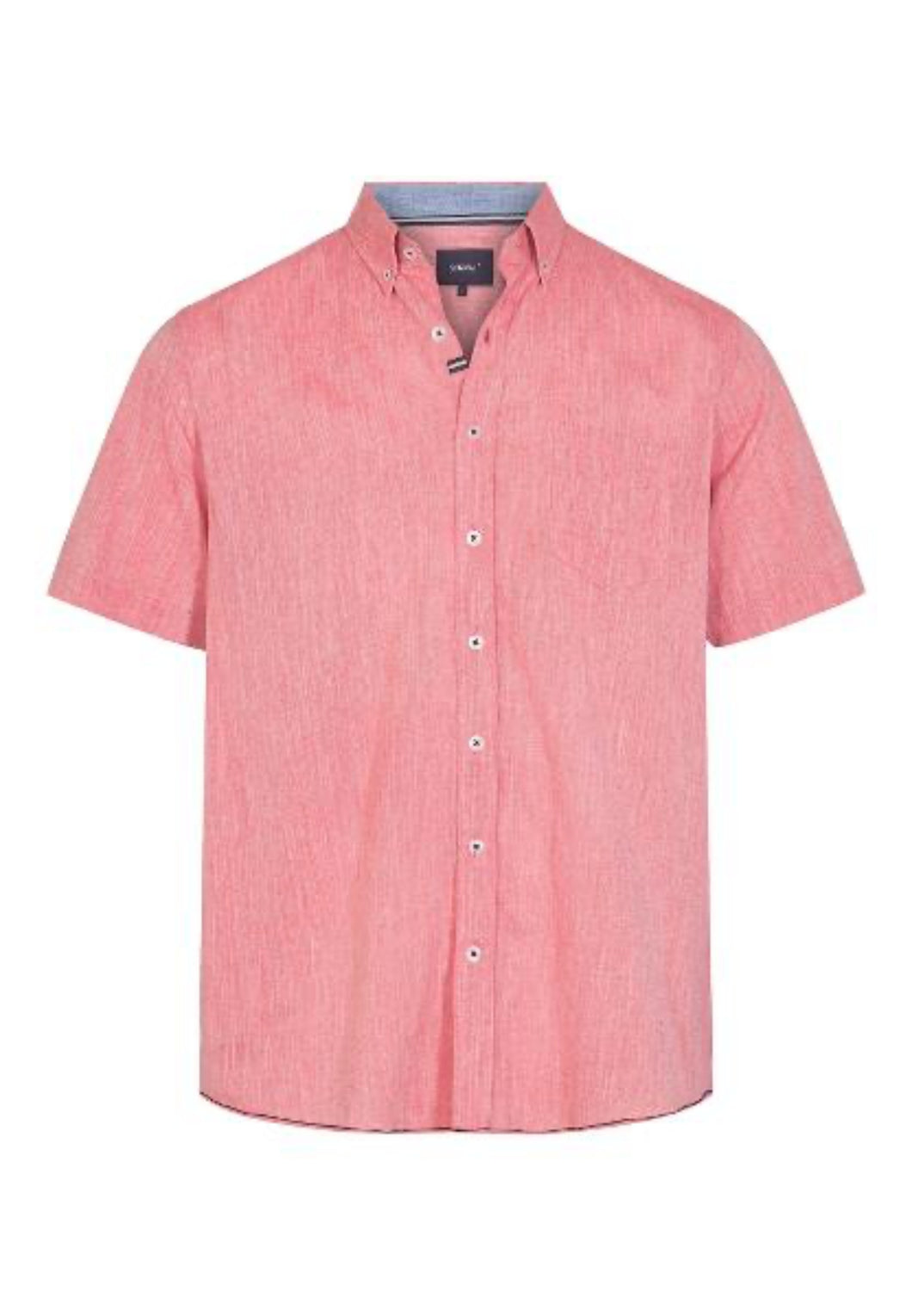 Kevin Shirt - Coral Red / S - SKJORTOR - SHORT SLEEVE 3XL,