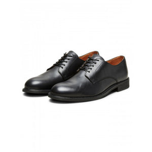 Baxter Derby Leather Shoe - Black / 41 - SKO 41, 42, 43, 44,